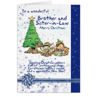 Carte de frère et de Noël de belle-soeur