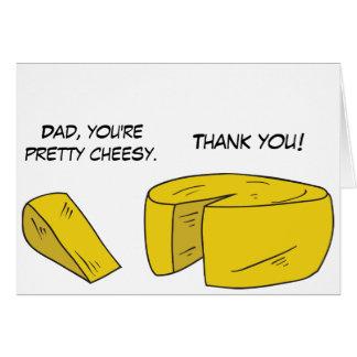 Carte de fromage drôle de fête des pères