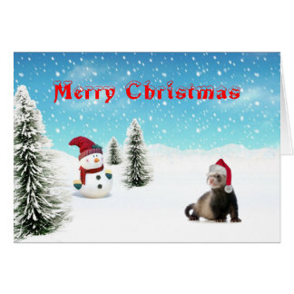 Carte de furet de Père Noël