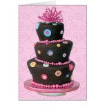 Carte de gâteau d'anniversaire d'amusement