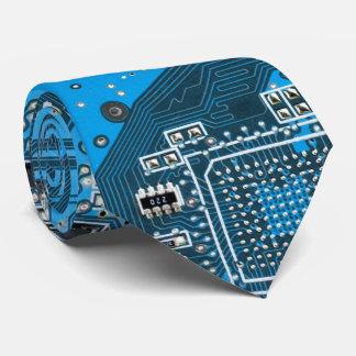 Carte de geek d'ordinateur - bleu cravate