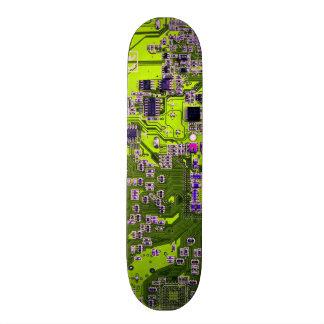 Carte de geek d'ordinateur - jaune de néon skateboard old school 18,1 cm