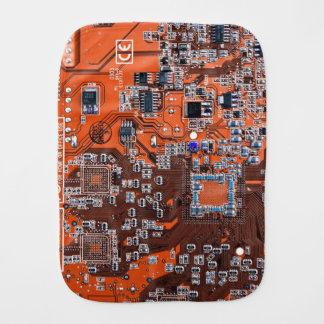 Carte de geek d'ordinateur - orange linges de bébé