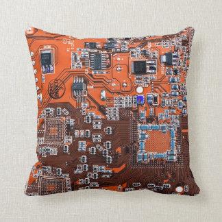 Carte de geek d'ordinateur - orange oreillers