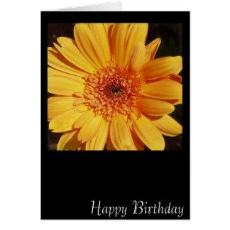 Carte de Gerbera de joyeux anniversaire