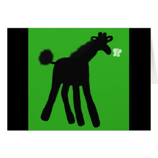 Carte de girafe de paume
