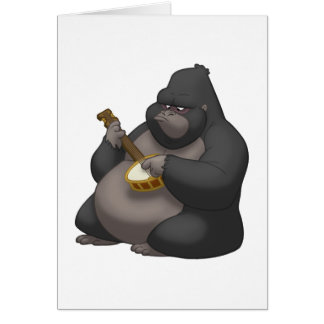 Carte de gorille de Banjo-Strummin'(blanc à