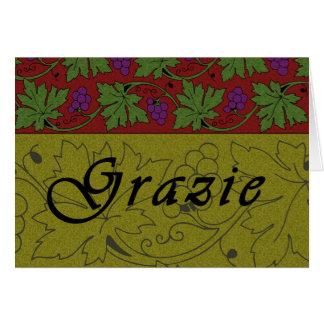 Carte de Grazie de vignes