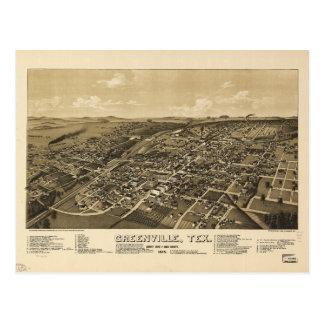 Carte de Greenville le comté de Hunt le Texas