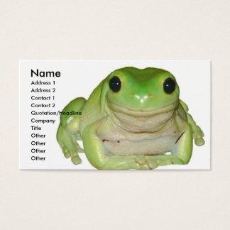 Carte de grenouille