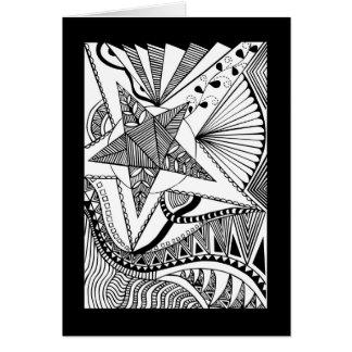 Carte de griffonnage d'étoile