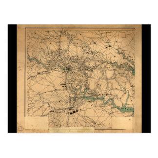Carte de guerre civile de Richmond et de
