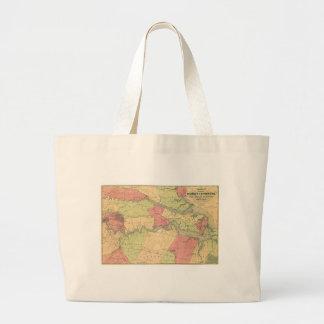 Carte de guerre civile montrant des champs de sac en toile jumbo