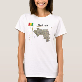 Carte de Guinée-Conakry + Drapeau + T-shirt de