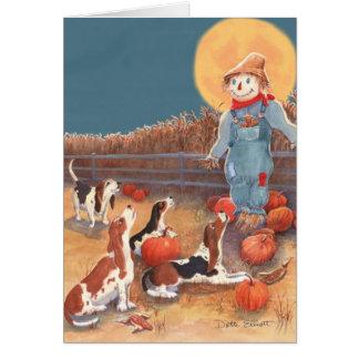 Carte de Halloween de basset
