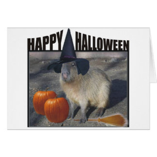 Carte de Halloween de Capybara