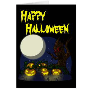 Carte de Halloween de correction de citrouille