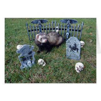 Carte de Halloween de furet