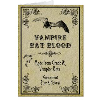 Carte de Halloween de sang de batte de vampire