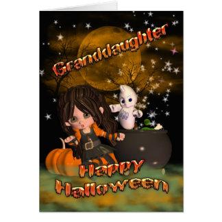 Carte de Halloween pour la petite-fille, des