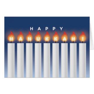 Carte de Hanoukka avec des bougies