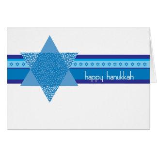Carte de Hanoukka avec les étoiles juives