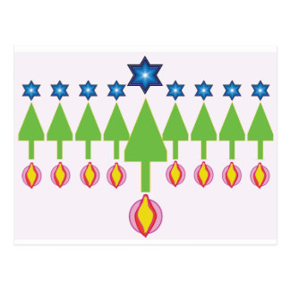 Carte de Hanoukka Chrismukkah de Noël
