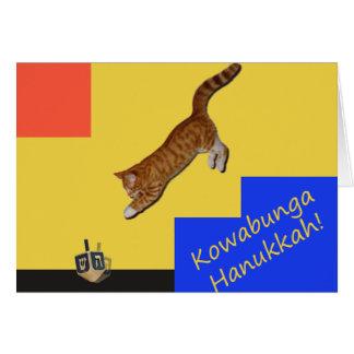 Carte de Hanoukka de chat de Kowabunga