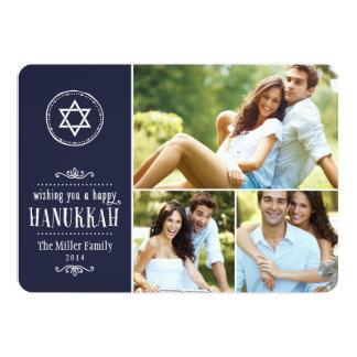 Carte de Hanoukka de collage de photo de famille