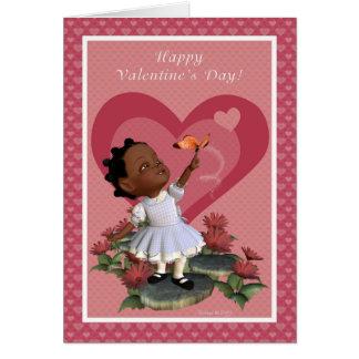 Carte de heureuse Sainte-Valentin de fille de