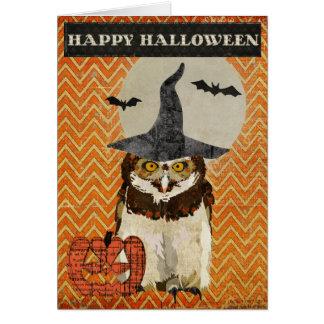 Carte de hibou de Halloween