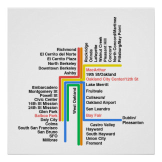 Carte de Hyperlinear BART (blanc, aucun étiquette) Posters