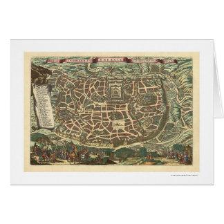 Carte de Jérusalem par Nicolaes Visscher 1660