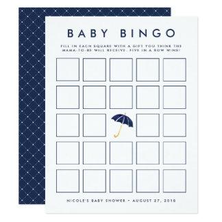 Carte de jeu de bingo-test de baby shower du