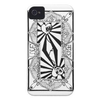 Carte de jeu de Love&peace (arrière) Coque iPhone 4 Case-Mate