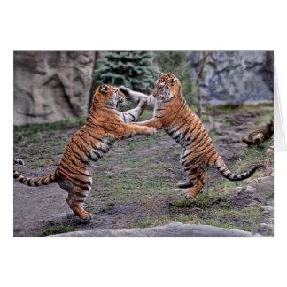 Carte de jeu de tigre