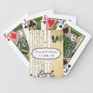 Carte de jeu vintage de cadeau de mariage jeu de poker