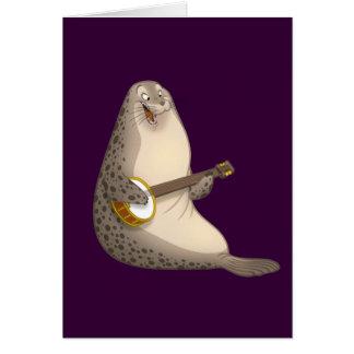 Carte de joint de Strummin de banjo (blanc à