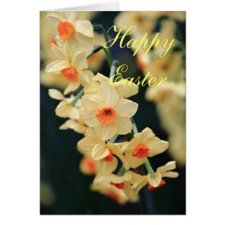 Carte de jonquille de Pâques