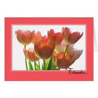 Carte de jour d'assistant administratif -- Tulipes