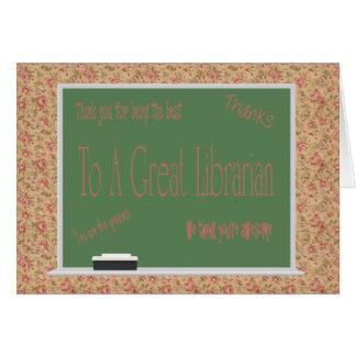 Carte de jour de bibliothécaire
