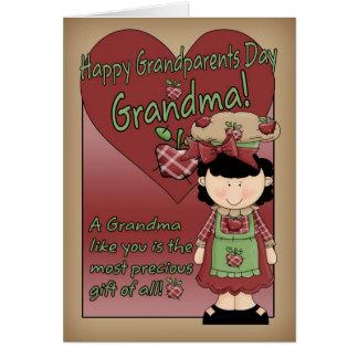 Carte de jour de grands-parents de grand-maman -