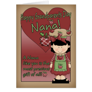 Carte de jour de grands-parents de Nana - petite