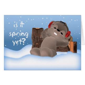 Carte de jour de Groundhog - est-ce ressort encore