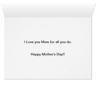Carte de jour de mères