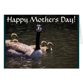 Carte de jour de mères de famille d'oie