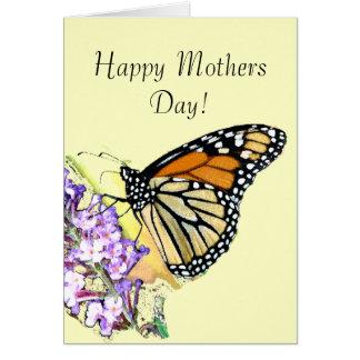 Carte de jour de mères de papillon de monarque