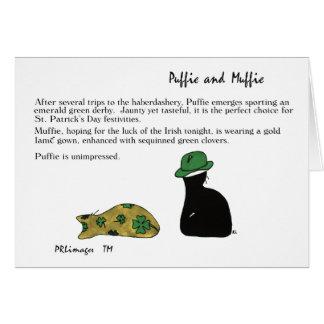Carte de jour de Puffie et de Muffie St Patrick