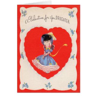 Carte de jour de Valentines de filles
