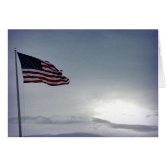 Carte de jour de vétérans de drapeau américain
